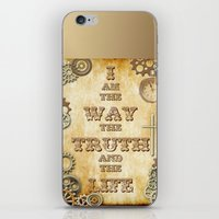 bible verses iPhone & iPod Skins featuring Bible Verse Steampunk Way Truth Life by Whimsy and Nonsense