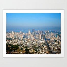Twin Peaks, San Francisco Art Print