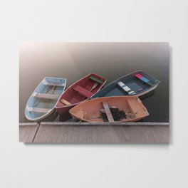 Four Skiffs Metal Print