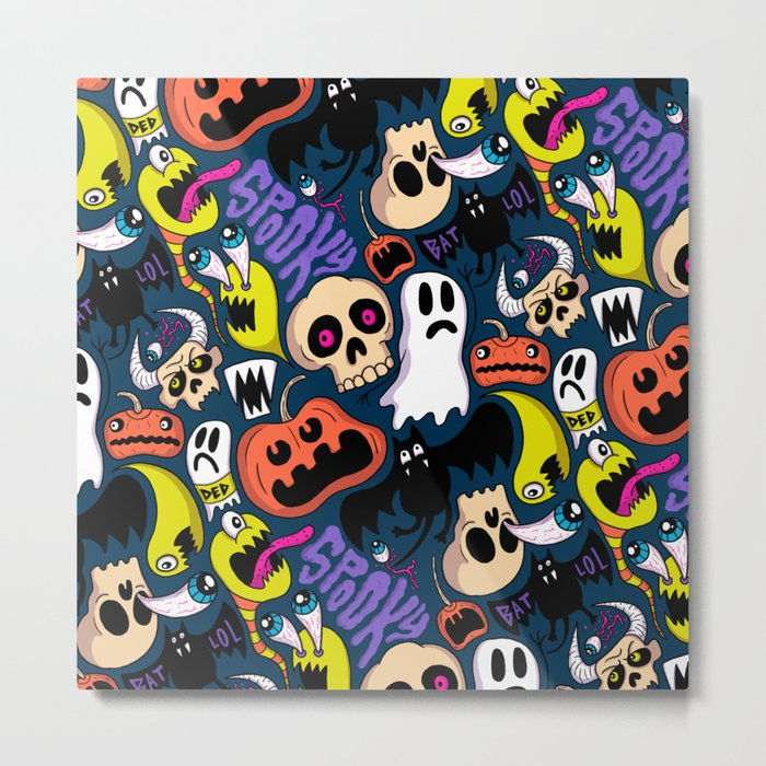 Spooky Pattern Metal Print