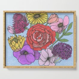 Floral Bouquet Serving Tray
