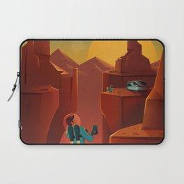 SpaceX Travel Poster: Valles Marineris, Mars Laptop Sleeve