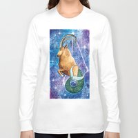 capricorn Long Sleeve T-shirts featuring Capricorn  by Georgia Roberts