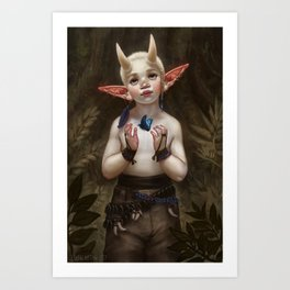 Child of the Forest Art Print