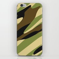 camo iPhone & iPod Skins featuring Camo by SShaw Photographic