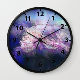 Andes (A Seismic Portrait) Wall Clock