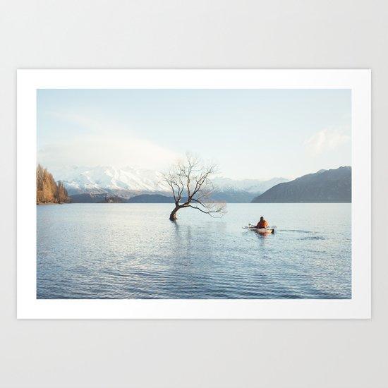 That Wanaka tree kayak session Art Print