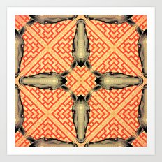 Horse Pattern No 1 Art Print