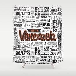 Venezuela Lettering Design Shower Curtain