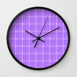 Plaid_Purple Wall Clock
