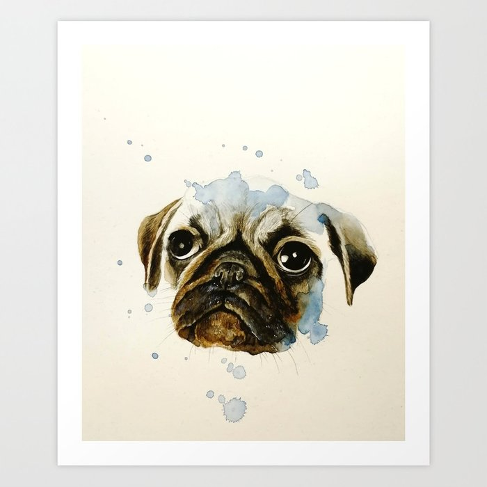 Pug 2 Art Print