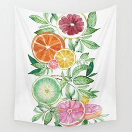Citrus Fruit Wall Tapestry