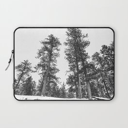 Snowscape Sky // Winter Trees Black and White Landscape Snow Ski Snowboard Photography Laptop Sleeve