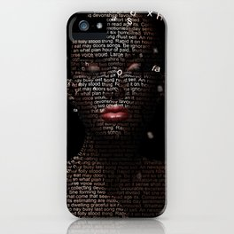 Your words are meaningless iPhone Case