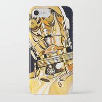 c3po iPhone & iPod Cases featuring C3PO by Laura-A