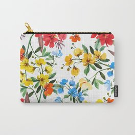 Wildflower Watercolor Carry-All Pouch