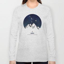 Astrology Cancer Zodiac Horoscope Constellation Star Sign Watercolor Poster Wall Art Long Sleeve T-shirt