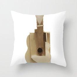 Pablo Picasso Guitar Sculpture, 1912 Spanish Design, Tshirts, Posters, Prints, Men, Women, Kids Throw Pillow