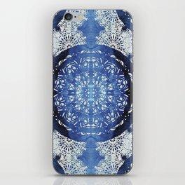 Boho Brocade Blue Mandalas iPhone Skin