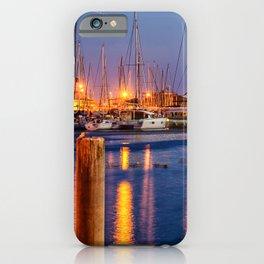 Marina Del Rey Harbor At Night iPhone Case