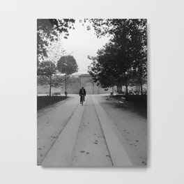 Bicyclist Metal Print