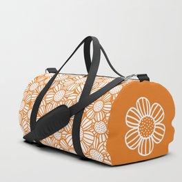 Field of daisies - orange Duffle Bag