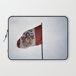 Flag in the Deh Cho Laptop Sleeve