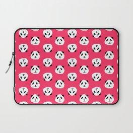 Pink Pixel Panda Pattern Laptop Sleeve