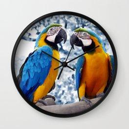 Macaws chatting Wall Clock