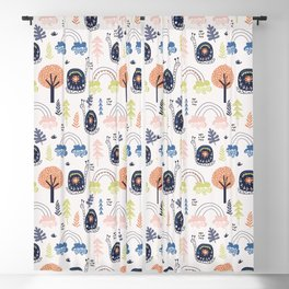 trees Prints patterns Blackout Curtain