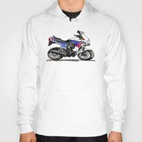 honda Hoodies featuring 1983 Honda CX650TD Turbo by Saddle Bums