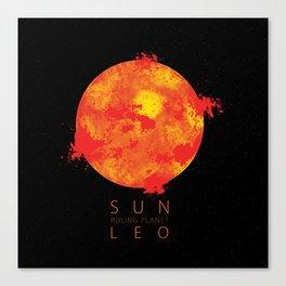 Leo - Ruling Planet Sun Canvas Print