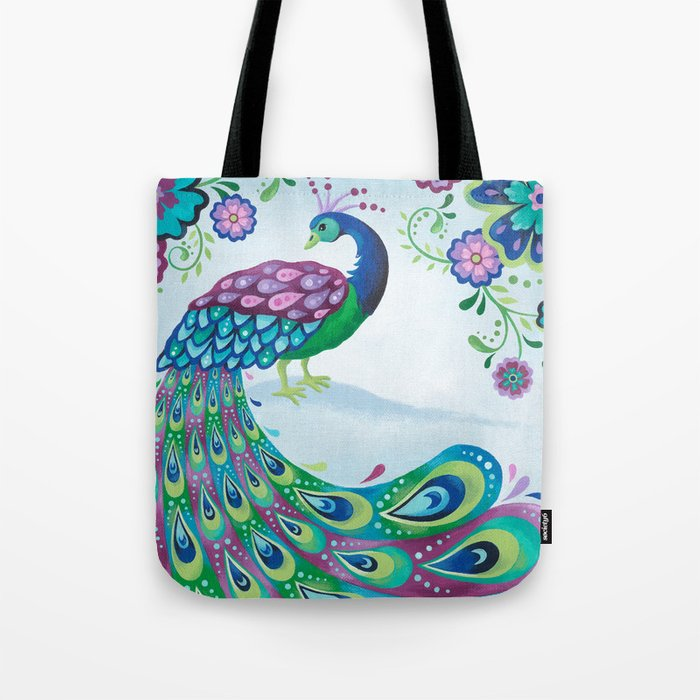 Flaunting It Peacock Tote Bag