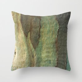 Eucalyptus Tree Bark 6 Throw Pillow