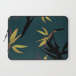 Fall print in forest green and mustard (also available in navy and blue) Laptop Sleeve