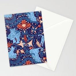 Floral Tiger Stationery Cards