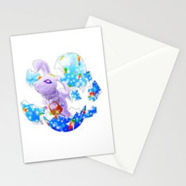 'You Cracked the Egg' Series - Easter Angelic Bunny Stationery Cards