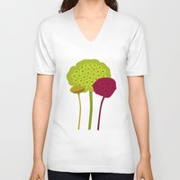 plants V-neck T-shirts featuring Plants by Studio CODECO