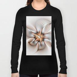 Elegance of a Flower, modern Fractal Art Long Sleeve T-shirt