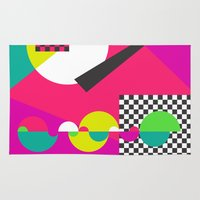 kandinsky Area & Throw Rugs featuring abstract construction 01 by Ioana Luscov