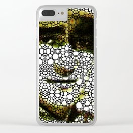The Duke - A Tribute to John Wayne - Stone Rock'd Art By Sharon Cummings Clear iPhone Case