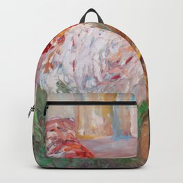 Betsy's Chickens print of painting by Teresa Johnson Backpack