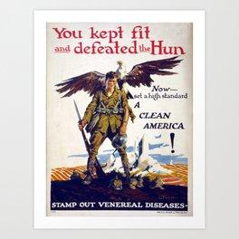 Vintage poster - Stamp Out Venereal Diseases Art Print