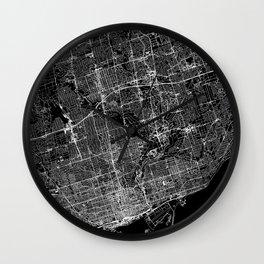 Toronto Black Map Wall Clock
