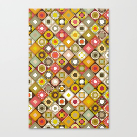 parava retro diagonal Canvas Print