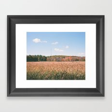 the harvest has ended Framed Art Print