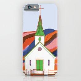 Reyniskirkja Church in Vik Iceland in the Fall iPhone Case