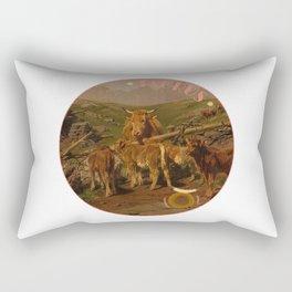 Zodiac art: taurus Rectangular Pillow