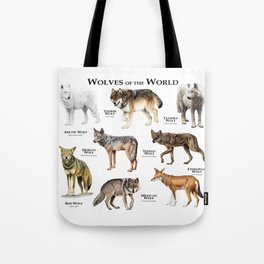 Wolves of the World Tote Bag