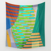 lama Wall Tapestries featuring A Lama, o Mangue e o Mar (The Mud, the Mangue and the Sea) by Fernando Vieira